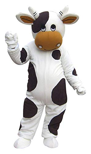 Diary Cow Mascot Costume for Adult Men Boy with Built - in Fan for Height 5'11