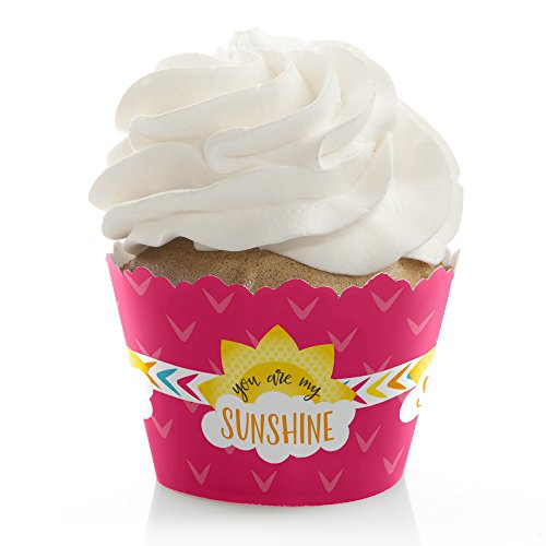 You Are My Sunshine - Baby Shower or Birthday Party Cupcake Wrappers - Set of 12 (Liners Cupcake Sun)