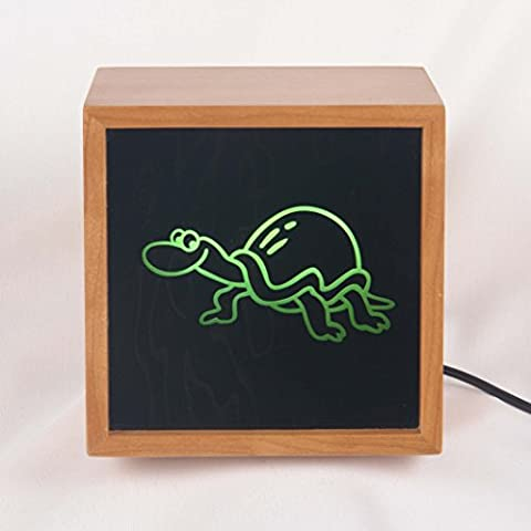 Murtle the Turtle LED Night Light Table Lamp, Children's Room Decor - Turtle Lacquer