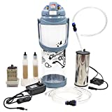 livestocktool.com Portable Pulse Milking Machine 3L/0.8 Gallon Double Head Milker for Sheep Goat Cow Milking Kit