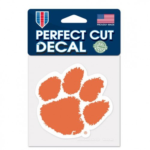Clemson Tigers Paw Primary Logo Perfect Cut Decal 4