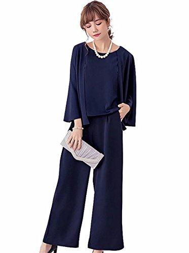 お茶リマーク治安判事EASONDDD パンツドレス ケープ 結婚式 パーティー ドレス セットアップ ブラウス ワイドパンツ ドレス スリーブ 上下セット ツーピース お呼ばれ フォーマル 大きいサイズ