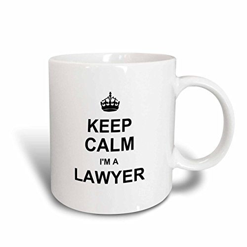 3dRose mug_194470_1 Keep Calm Im a Lawyer Funny Law Profession Gift Job Work Pride Ceramic Mug, 11-Ounce (1 Christmas Mugs)