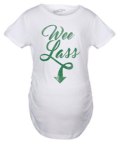 Crazy Dog TShirts - Maternity Wee Lass Cute Funny Irish Baby Girl Pregnancy Announcement T shirt - Camiseta De Maternidad