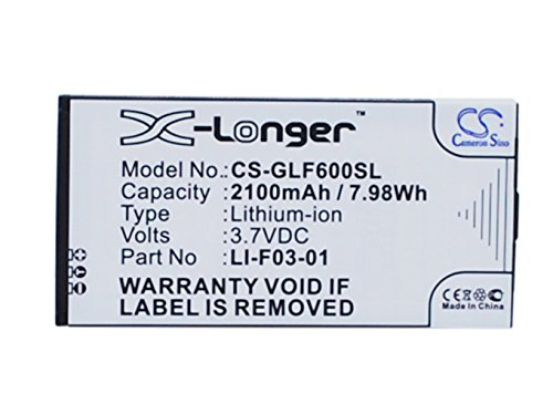 Battery Replacement for Golf Buddy DSC-GB600, GB3-PT4, Platinum 4, PT4 Part NO LI-F03-01