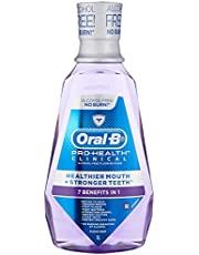 Oral-B Pro-Health Clinical 7-in 1 Mouth Rinse, Clean Mint, 1000ml
