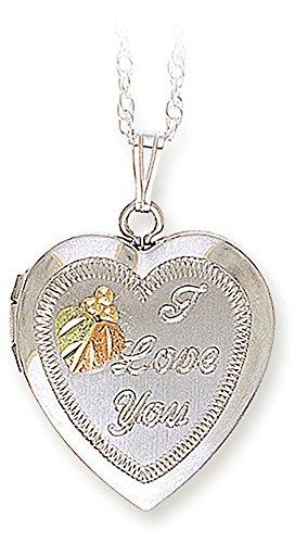 Black Hills Gold 'Love' Locket, 925 Sterling Silver, 12 Leaves by Landstrom's Black Hills Gold Jewelry