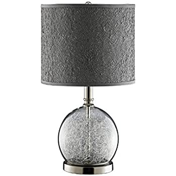 Stein world 947328 watt clear glass accent lamp room with wire stein world 947328 watt clear glass accent lamp room with wire filled globe and polished chrome greentooth Choice Image