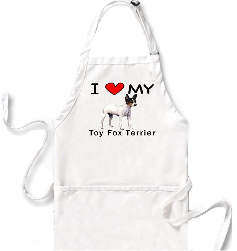 I Love My Toy Fox Terrier Apron