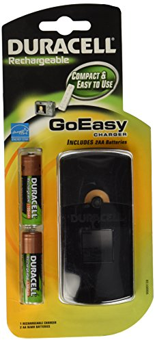 Duracell GoEasy Charger/Rechargable/Includes 2 AA Rechargeable Batteries, ()