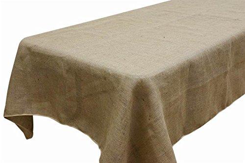 AK TRADING Rectangle Rustic Burlap Tablecloth, 60