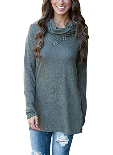 Sidefeel Pullover Button Collar Sweatshirt