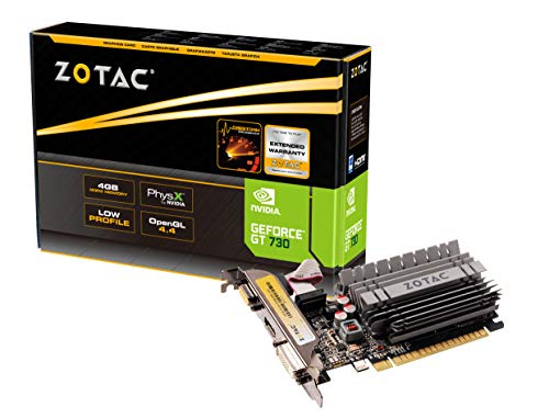 ZOTAC GeForce GT 730 Zone Edition 4GB DDR3 PCI Express 2.0 x16 (x8 lanes) Graphics Card (ZT-71115-20L) (Best Pci Express 1.0 Graphics Card)