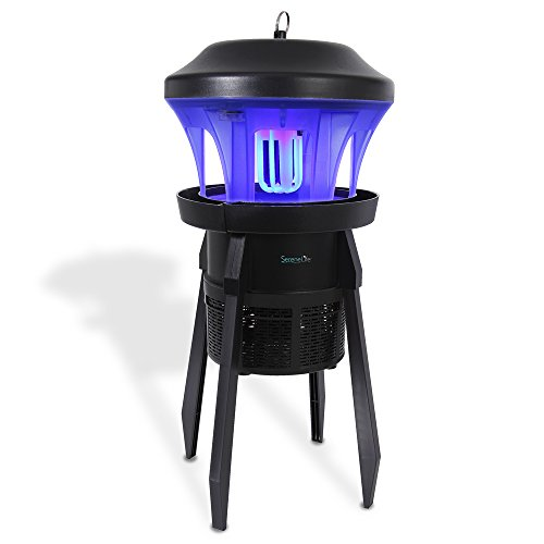SereneLife Waterproof Bug Zapper Outside - Electric Pest Repeller, Electronic Insect Killer, UV Light, Eco Friendly, 330+ Feet, Indoor/Outdoor, Great for Flies, Mosquitoes, Beatles, Moths -(PSLBZ25)
