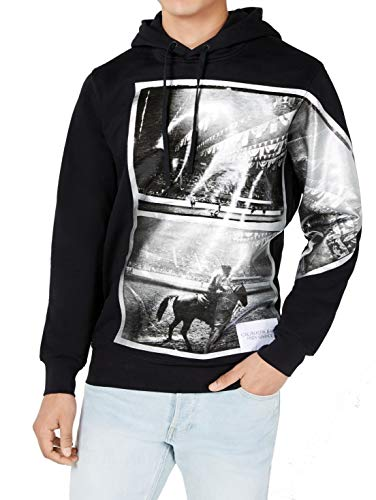 Calvin Klein Jeans Mens Rodeo Graphic Active Hoodie Black