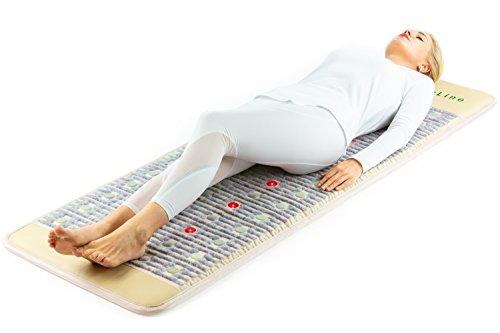 HL HEALTHYLINE - Far Infrared Amethyst Mat - (72inL x 24inW) - Light Therapy Mat - PEMF - Adjustable Temp - Auto Shut-Off - No EMF (Firm) (Mat Massage Thai Shiatsu)