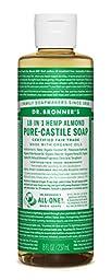 Dr. Bronner\'s Pure-Castile Liquid Soap (8 oz, Almond)