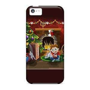 Hot Design Premium Tpu Case Cover Iphone 5c Protection Case(christmas Surprise)