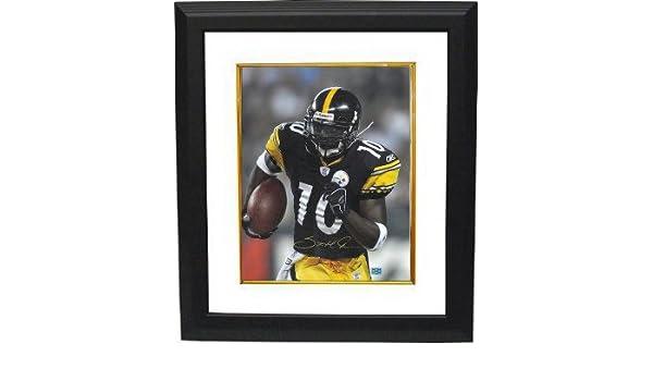 71dba7660 Amazon.com  Athlon CTBL-BW15739 Santonio Holmes Signed Pittsburgh Steelers  16 X 20 Photo Custom Framed - Black Jersey - Holmes Hologram  Sports    Outdoors