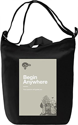 Begin anywhere Borsa Giornaliera Canvas Canvas Day Bag| 100% Premium Cotton Canvas| DTG Printing|