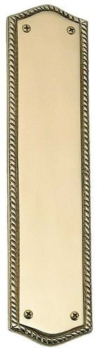 Polished Brass Finish Accents - BRASS Accents A06-P0250-605 Trafalgar Push Plate, 2-3/4
