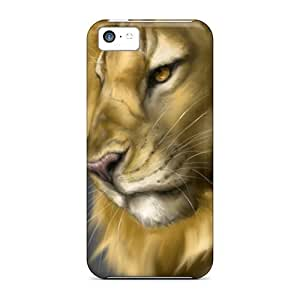 Sad Lion/ For Iphone 5/5s PC iphone Pretty Iphone Cases Covers cases yueya's case