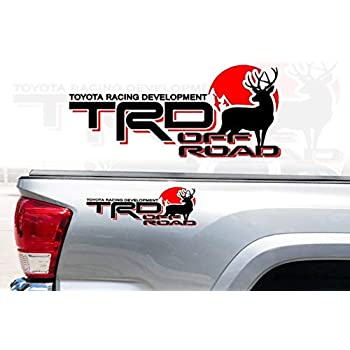 Amazon.com: Demupai TRD Off Road calcomanía de vinilo ...