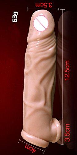 Male Reusable Silicone Penis Enlargement Sleeves Extend Condom Penis Impotence Enhancer Eden Fghk