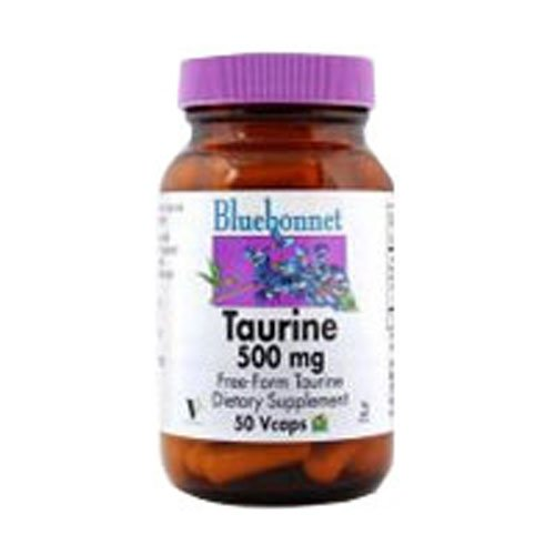 (Taurine, 500 Mg, 50 VC by Bluebonnet Nutrition (Pack of 2))