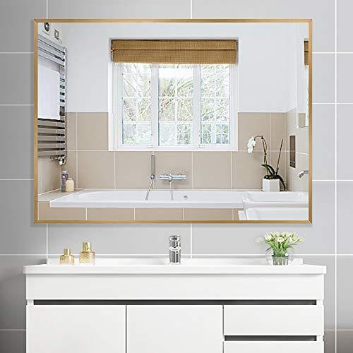 PexFix Wall-Mounted Vanity Mirror Large Rectangle Mirror Minimalist Style Bathroom Mirror Ultra -