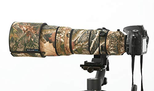 ROLANPRO #10 New Brown Jungle Camo Lens Clothing Camouflage Rain Cover for Nikon AF-S 200-400mm f//4G ED VR Lens Camera Lens Protection Sleeve