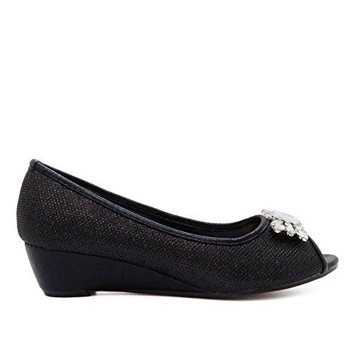 Toe Noir Footwear Peep London femme qzFwa0B
