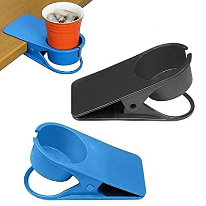 Super Fun Cup Holder Clip Clamp Design For Desk Side Table Home Office Use With Hole For Mug Handle Heat Resistant Portable Water Beverage Soda Coffee Tea Download Free Architecture Designs Rallybritishbridgeorg
