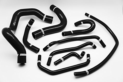 Autobahn88 Radiator Coolant & Heater Silicone Hose Kit fits for 2009-2005 Mazda MX-5 Miata Roadster Mark 2 NB6C (Black -without Clamp Set)
