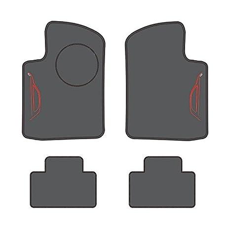 Grey Speedlab Custom Fit Floor Mat for Select Fiat 500 Models 4 Piece