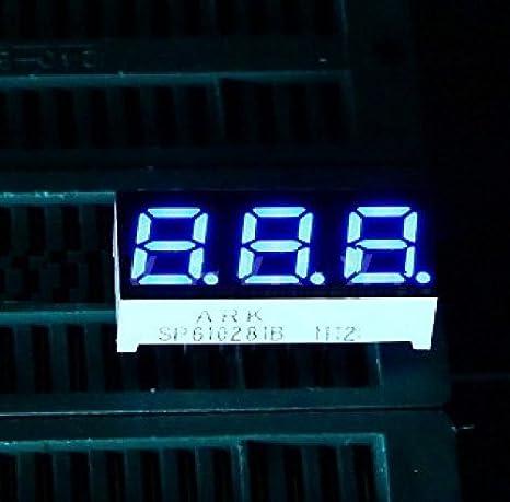 Blue 0.28 inch 3 digit led display 7 seg segment Common anode New