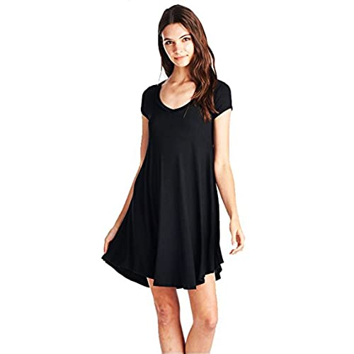 Black Dress Casual to Wear with Leggings: Amazon.com