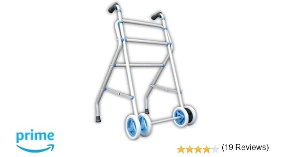 Andador Caminador de aluminio con rueda doble y sin asiento ...