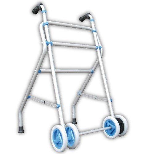Andador Caminador de aluminio con rueda doble y sin asiento
