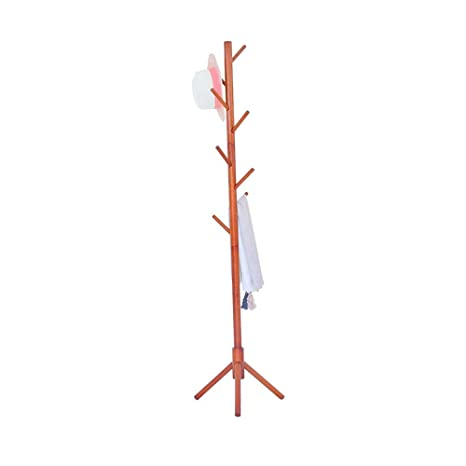 Amazon.com: Hakn - Perchero de madera maciza con soporte ...