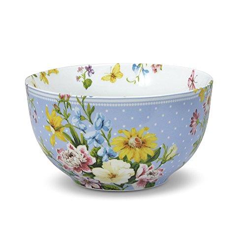 Katie Alice English Garden Cereal Bowl, 6-Inch, Blue Spot