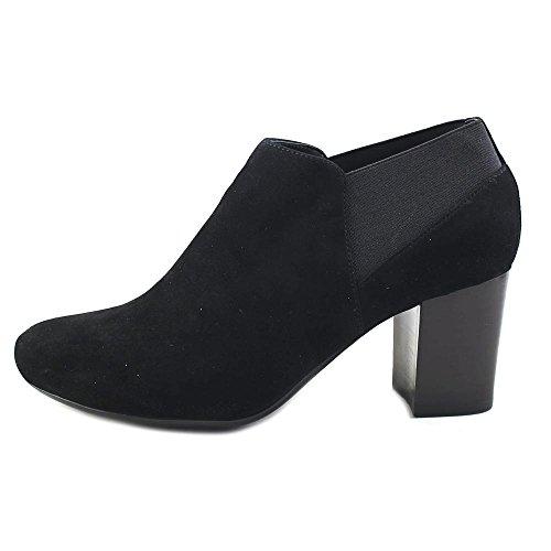 Toe Leather VANELi Pointed suede Ankle jonele Womens Chelsea Black Boots ecco wRIq4I1
