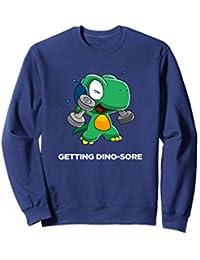 Funny Cute Dinosaur Gym Sweatshirt Funny Workout Sweatshirt