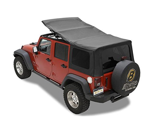 Top Soft Hardware (Bestop 79137-35 Black Diamond Sailcloth Replace-A-Top Soft Top with Tinted Windows; no door skins included for 2007-2009 Wrangler JK Unlimited)