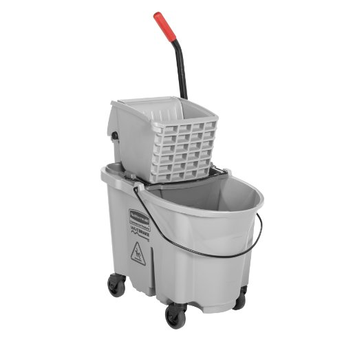 Rubbermaid Commercial WaveBrake Mopping System Bucket and Side-Press Wringer Combo, 35-quart, Gray (1863897) by Rubbermaid Commercial Products