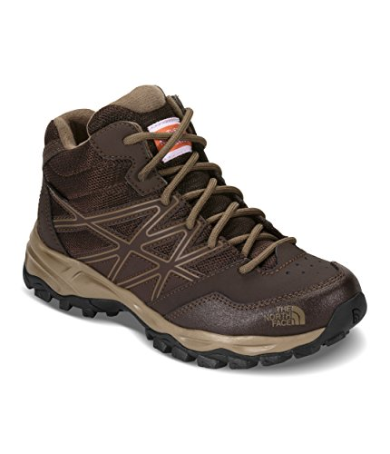 - The North Face Junior Hedgehog Hiker Mid Waterproof - Brunette Brown & Sepia BRWN - 6
