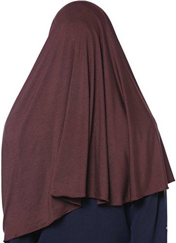 YI HENG MEI Women's Modest Muslim Islamic Soft Solid Cotton Jersey Inner Hijab Full Cover Headscarf,Coffee by YI HENG MEI (Image #1)
