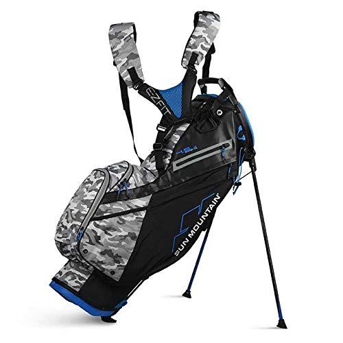 Sun Mountain 4.5 LS 14-Way Stand Bag Golf Carry Black/Camo/Cobalt 2020 New