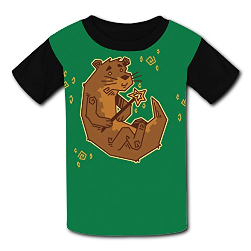 Short Sleeve New Slim fit Shirts 3D Making With Magic Otter For Boy Girl ()