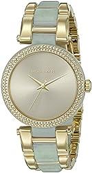 Michael Kors Women's MK4317 Delray Quartz Gold-Tone Stainless Steel Watch